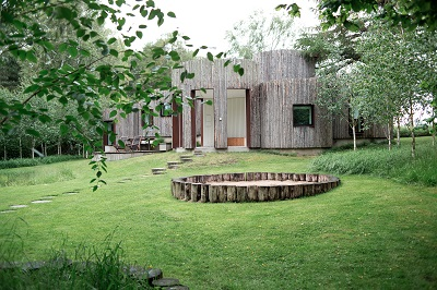 beautifully landscaped garden area